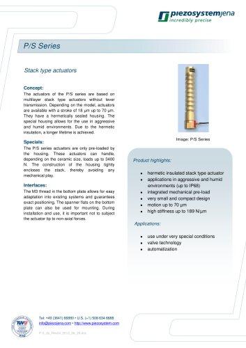 Stack type actuators series P/S