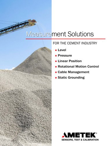 Measurement Solutions for the Cement Industry