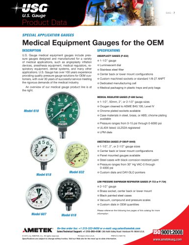 Medical Equipment Gauges for the OEM
