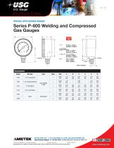 Series P-600 Welding and Compressed Gas Gauges - 2