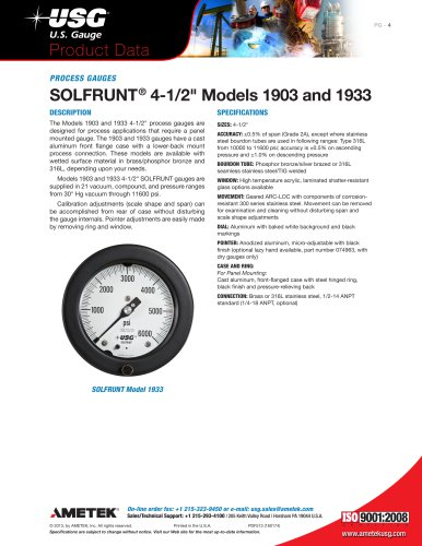 "SOLFRUNT® 4-1/2"" Models 1903 and 1933"