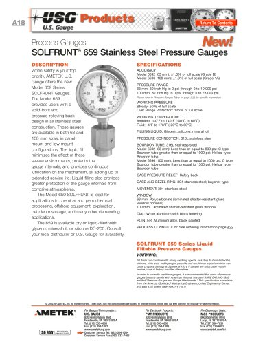 SOLFRUNT 659 Series Gauges