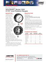 "SOLFRUNT® Model 1929 4-1/2"" Low Pressure Gauges"