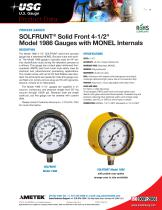 """SOLFRUNT® Solid Front 4-1/2"""" Model 1986 Gauges with MONEL Internals"""