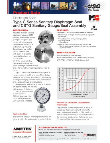 Type-C-Series-Sanitary-Diaphragm-Seal