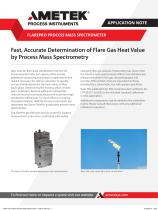 Fast, Accurate Determination of Flare Gas Heat Value by Process Spectrometry