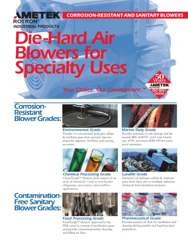 Corrosion-Reistant And Sanitary Blowers