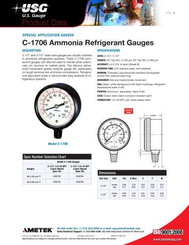 C-1706 Ammonia Refrigerant Gauges