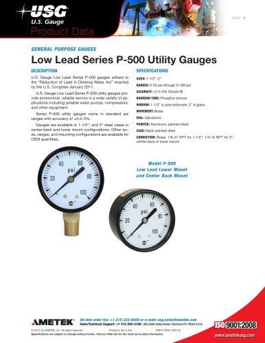 Low Lead Series P-500 Utility Gauges
