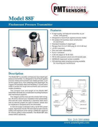Model 88F Flushmount Pressure Transmitter