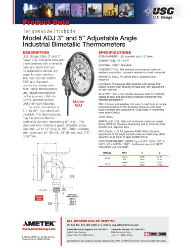 Model ADJ 3in and 5in Adjustable Angle