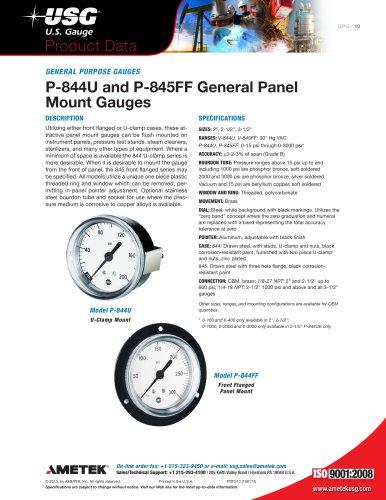 P-844U and P-845FF General Panel Mount Gauges 2013