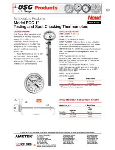 POC Series Testing Thermometers