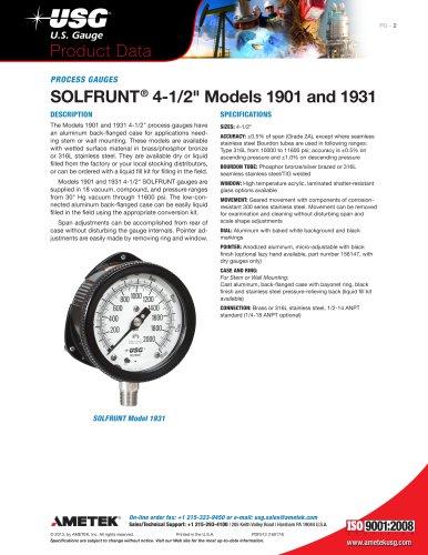 """SOLFRUNT ®  4-1/2"""" Models 1901 and 1931"""