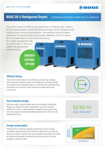 BOGE DS-2 Refrigerant Dryers