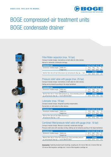 COMPRESSED-AIR TREATMENT UNITS - CONDENSATE DRAINER
