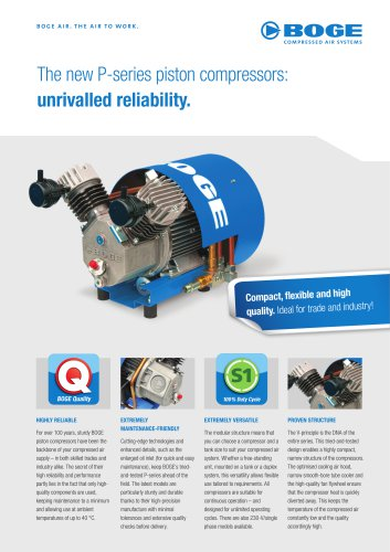 The new P-series piston compressors
