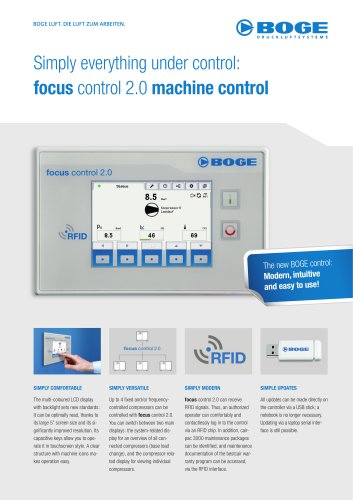 Simply everything under control: focus control 2.0 machine control