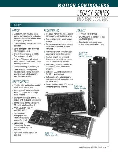 DMC-1500, 1300, 1000 - Galil - PDF Catalogs | Technical