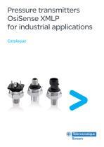 Pressure transmitters OsiSense XMLP for industrial applications