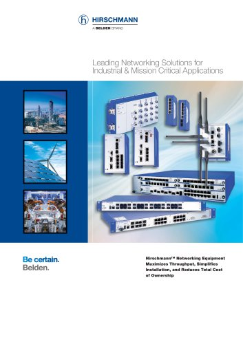 Hirschmann presents new Industrial Networking catalog