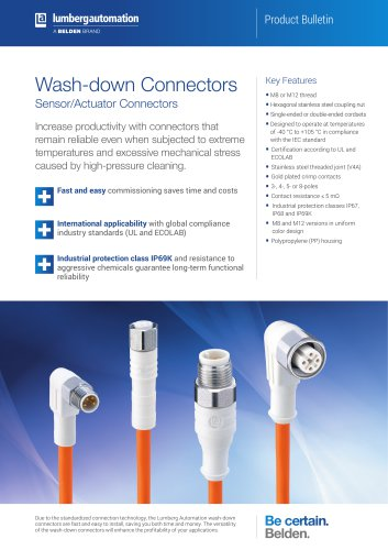 Wash-down Connectors