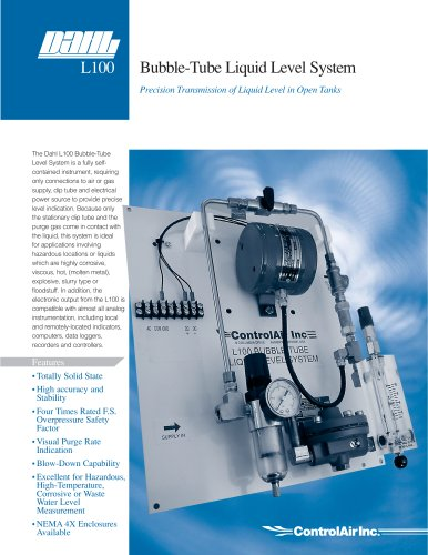 L100 Bubble Tube Liquid Level System