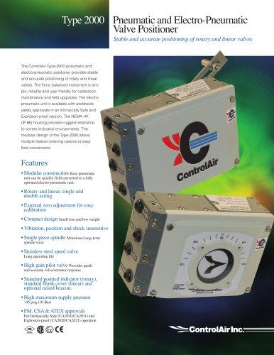 Pneumatic & Electro-Pneumatic Valve Positioner