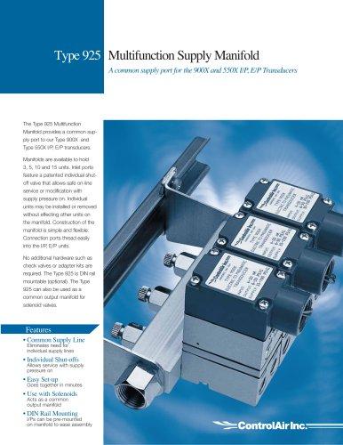 T925 Multifunction Supply Manifold
