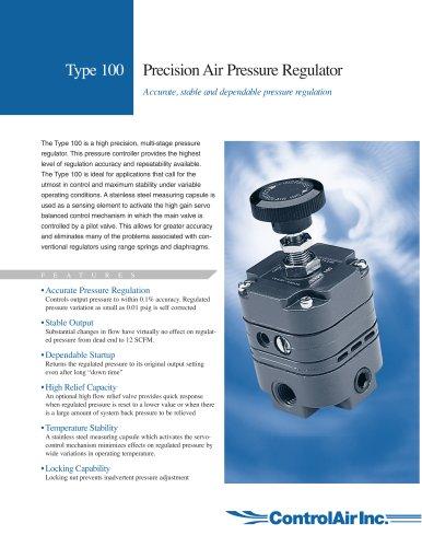 Type 100 Precision Air Pressure Regulator