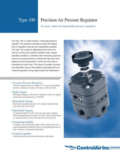 Type 100 - Precision Air Pressure Regulator
