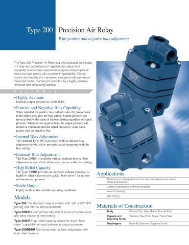 Type 200 Precision Air Relay
