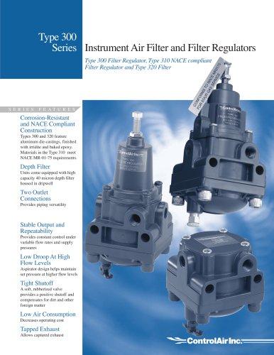 Type 300 Series - Instrument Air Filter and Filter Regulator