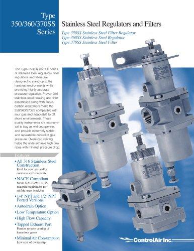 Type 350/360/370SS Series Stainless Steel Regulators