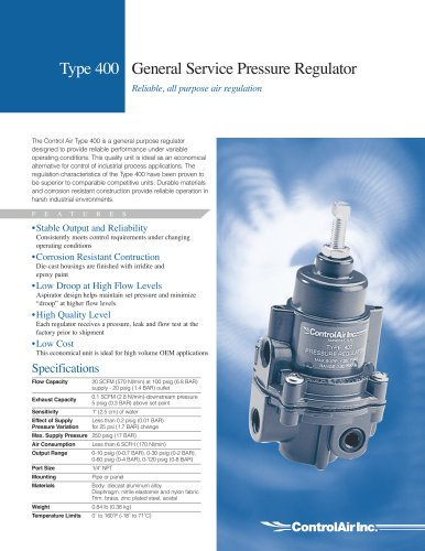 Type 400 General Service Pressure Regulator