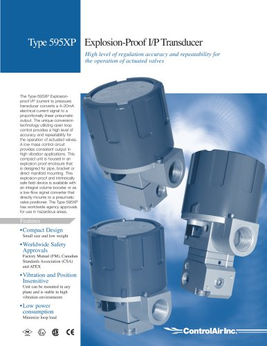 Type 595 - Explosion-Proof I/P Transducer