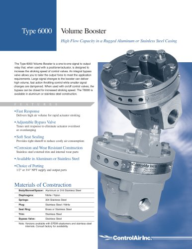 Type 6000 - Volume Booster