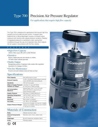 Type 700 - High Flow Capacity Precision Air Pressure Regulator