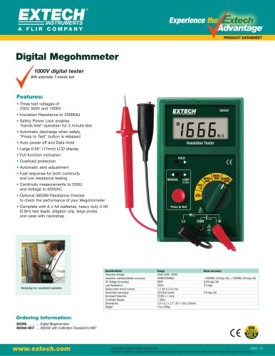 380360: Digital Megohmmeter
