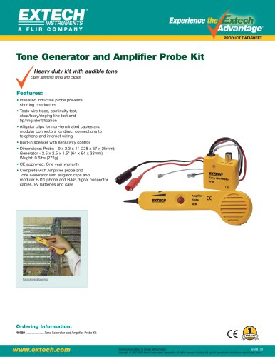 40180: Tone Generator and Amplifier Probe Kit