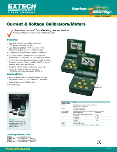 412355A: Current and Voltage Calibrator/Meter