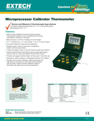 433201: Multi-Type Calibrator Thermometer
