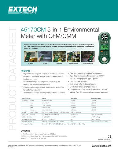 45170CM: 5-in-1 Environmental Meter