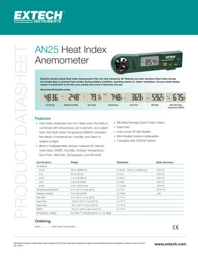 AN25: Heat Index Anemometer