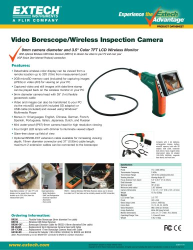 BR250: Video Borescope/Wireless Inspection Camera