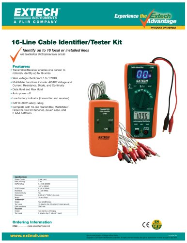 CT40: Cable Identifier/Tester