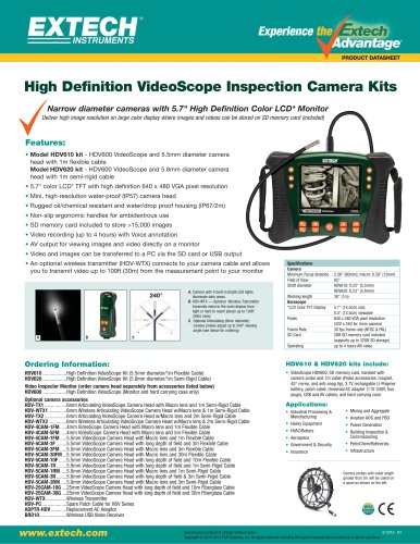 HDV620: HD VideoScope Kit with 5.8mm Semi-Rigid Probe