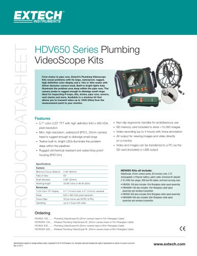 HDV650W-30G: HD VideoScope Wireless Plumbing Kit with 30m Probe