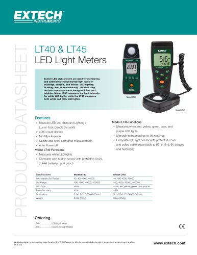 LT40: LED Light Meter