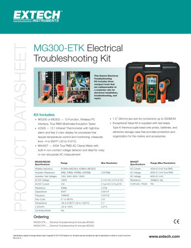MG302-ETK: Electrical Troubleshooting Kit